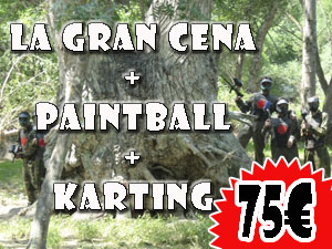 LGC + KARTING + PAINTBALL 75€